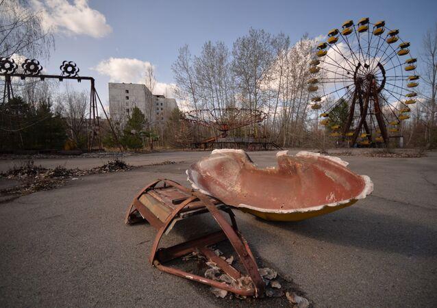 Hayalet şehri Pripyat.
