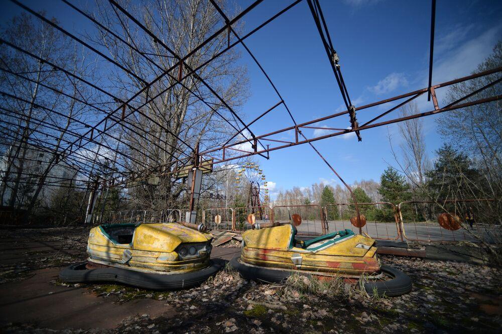 Çernobil felaketinin ardından tahliye edilen Pripyat şehri.