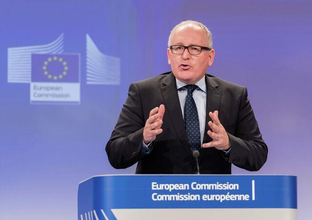 Avrupa Komisyonu Başkan Yardımcısı Frans Timmermans
