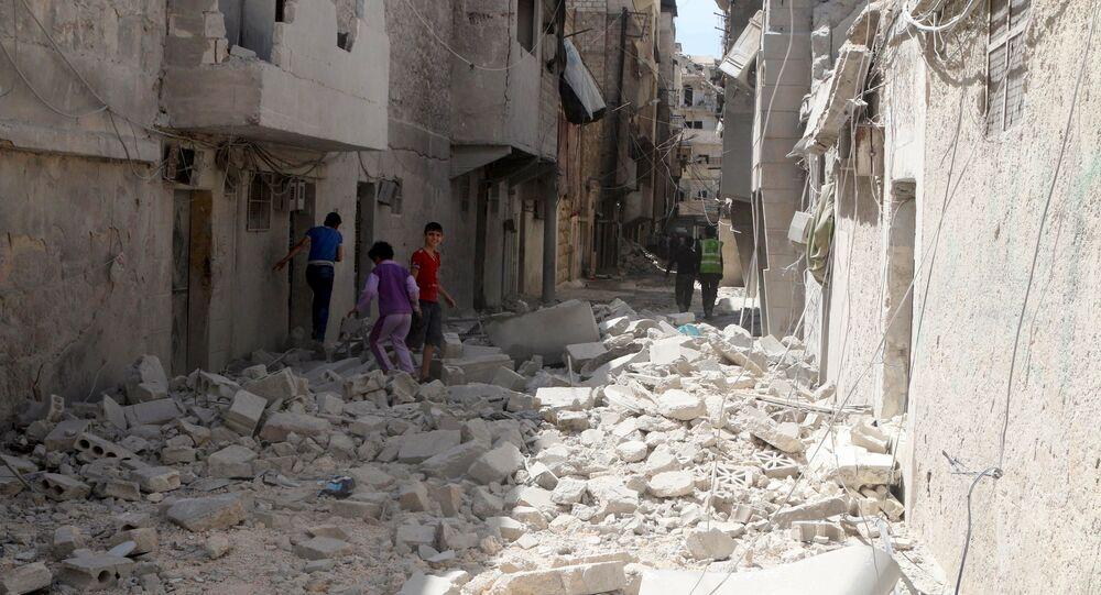 Halep'teki El Maysar mahallesi.