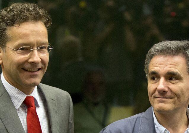 Eurogroup Başkanı Jeroen Dijsselbloem - Yunanistan Maliye Bakanı Öklid Çakalotos