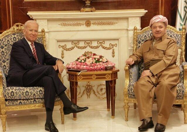 ABD Başkan Yardımcısı Joe Biden - Irak Kürt Bölgesel Yönetimi Başkanı Mesud Barzani