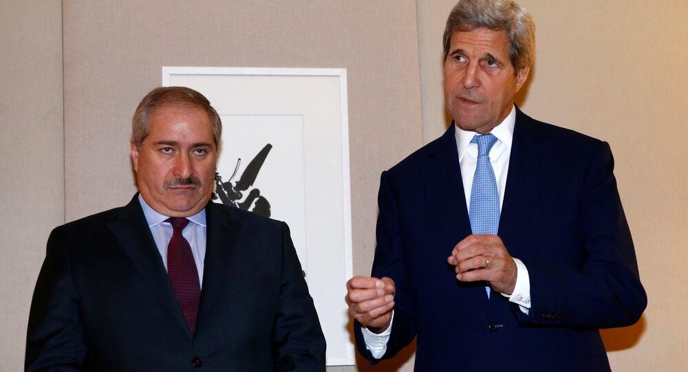 Ürdün Dışişleri Bakanı Nasır Cudeh -ABD Dışişleri Bakanı John Kerry