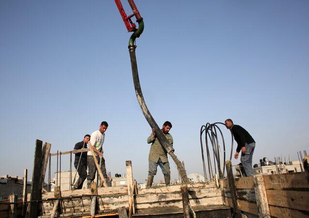 Gazze'de inşaat çalışmaları