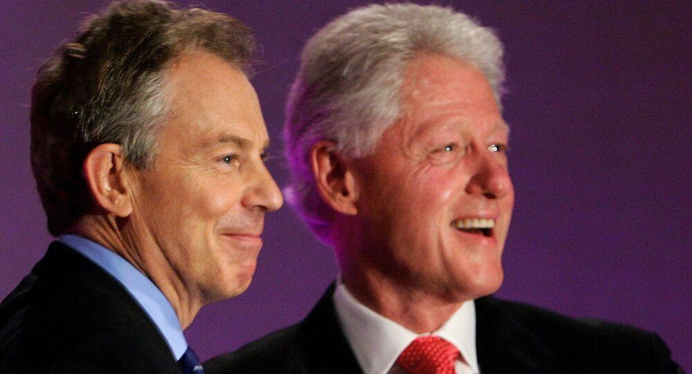 Eski ABD Başkanı Bill Clinton ve eski İngiltere Başbakanı Tony Blair