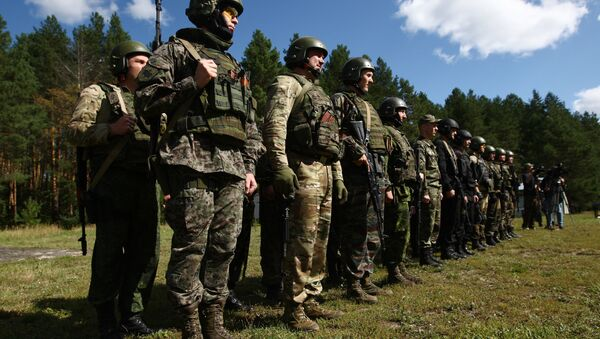 Participants in the open small arms shooting competitions of the task force units of law-enforcement bodies. (File) - Sputnik Türkiye