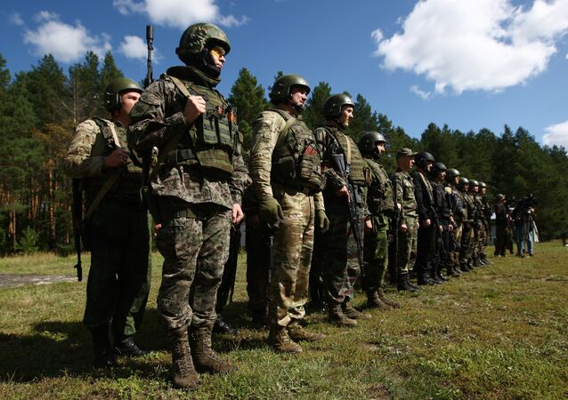 Participants in the open small arms shooting competitions of the task force units of law-enforcement bodies. (File)