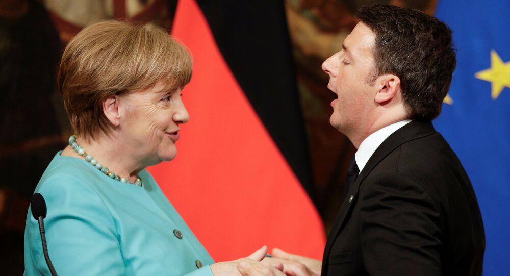 İtalya Başbakanı Matteo Renzi - Almanya Başbakanı Angela Merkel