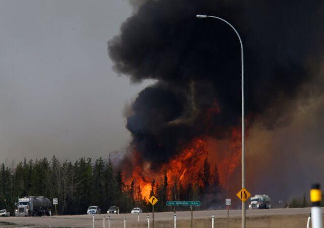 Kanada yangın