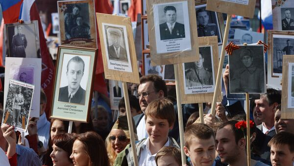 Rusya 'Ölümsüz Alay' için yürüdü - Sputnik Türkiye