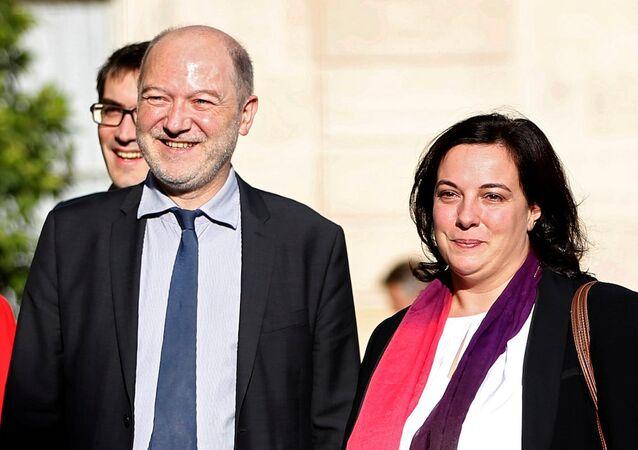 Fransa Ulusal Meclisi Başkan Yardımcısı Denis Baupin ve eşi İskan Bakanı Emanuelle Costa