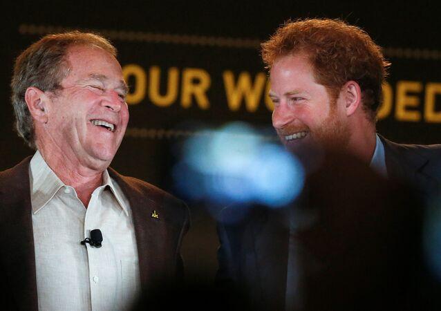 Eski ABD Başkanı George W. Bush- İngiltere Prensi Harry