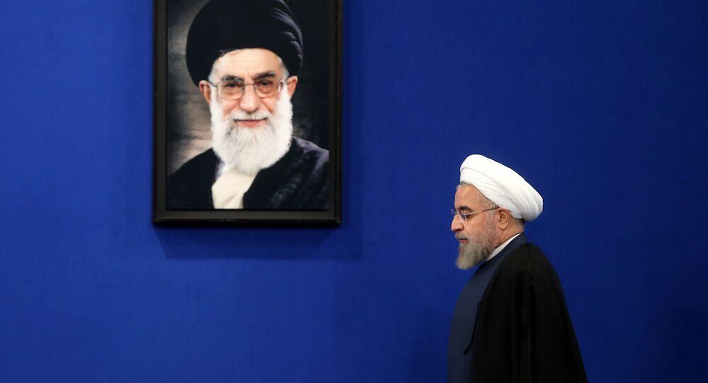 İran Cumhurbaşkanı Hasan Ruhani- Dini lider Ayetullah Ali Hamaney