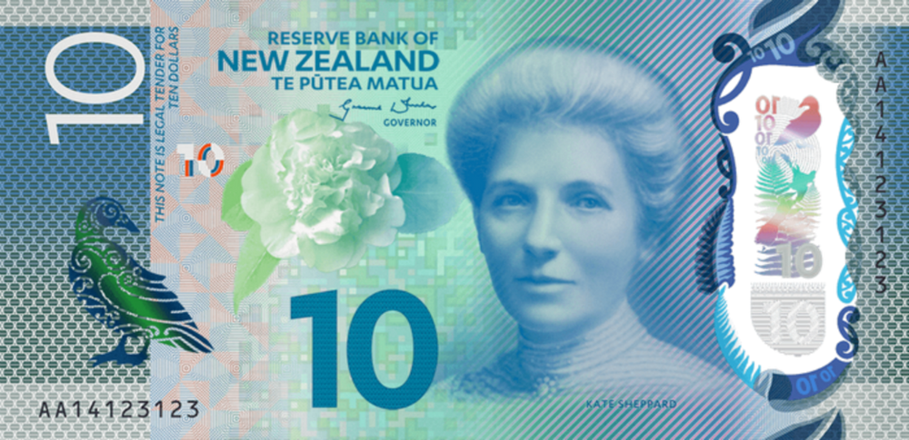 New Zealand's banknotes also honor suffragette Kate Sheppard.