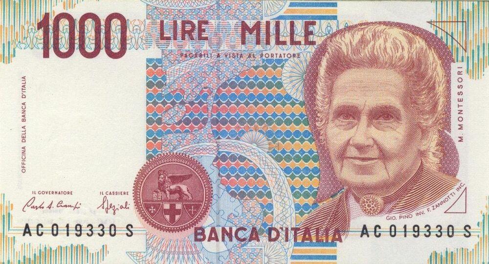 İtalya'nın AB'ye girmeden önce kullandığı bin lirada İtalyan fizikçi Maria Montessori vardı.