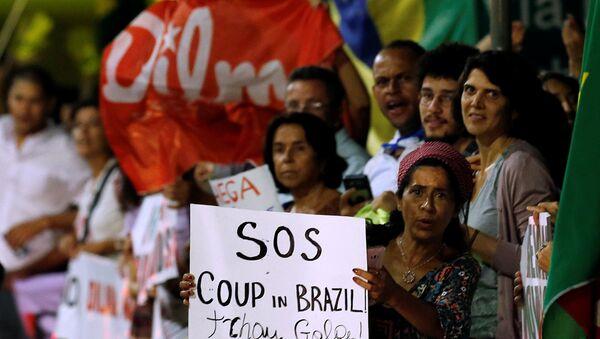 Brezilya'da Devlet Başkanı Dilma Rousseff yanlısı gösteriler - Sputnik Türkiye
