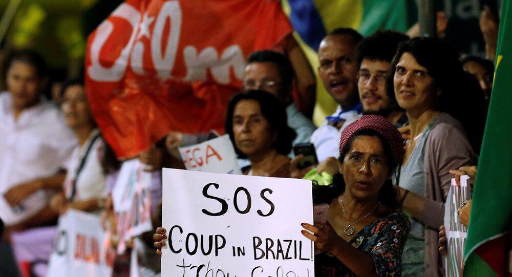 Brezilya'da Devlet Başkanı Dilma Rousseff yanlısı gösteriler