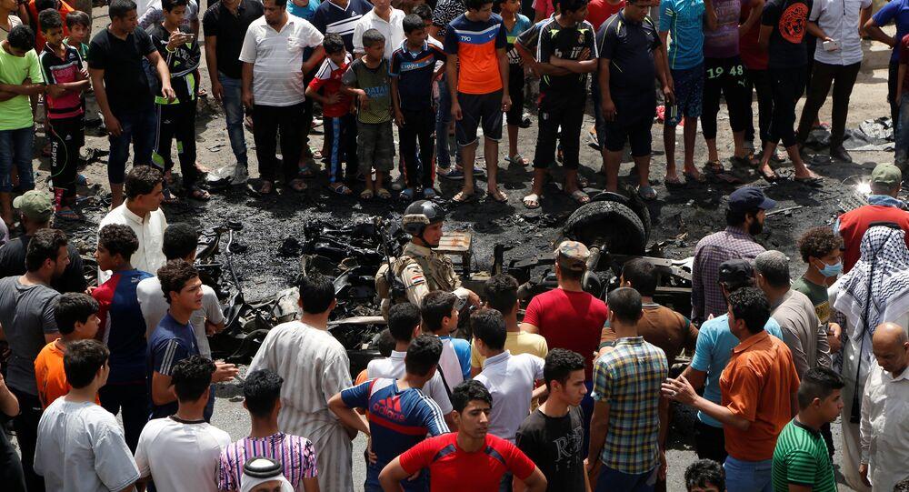Bağdat'ın Sadr bölgesine bomba yüklü araçla intihar saldırısı düzenlendi.
