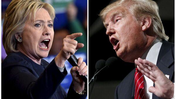 Demokrat Hillary Clinton ve Cumhuriyetçi Donald Trump - Sputnik Türkiye