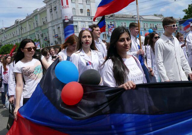 Donetsk Halk Cumhuriyeti'nde Cumhuriyet Günü kutlamaları