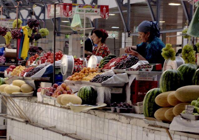 Rusya'da bir pazar yeri