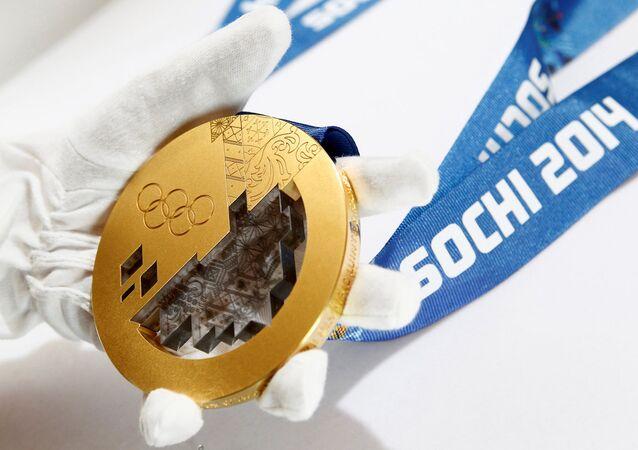 Soçi Olimpiyatları için üretilen altın madalya