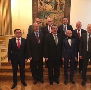 Türk iş adamları ile Rusya Federasyonu Ankara Büyükelçisi Andrey Karlov