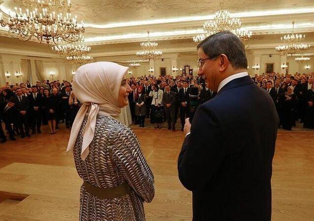 Başbakan Ahmet Davutoğlu, yakın çalışma ekibi ile 'veda resepsiyonunda' bir araya geldi.