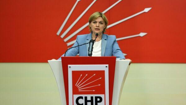 CHP Genel Başkan Yardımcısı ve Parti Sözcüsü Selin Sayek Böke basın açıklaması yaptı. - Sputnik Türkiye