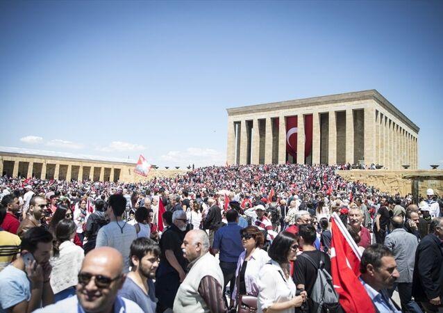 19 Mayıs Atatürk'ü Anma, Gençlik ve Spor Bayramı kutlamaları - Anıtkabir