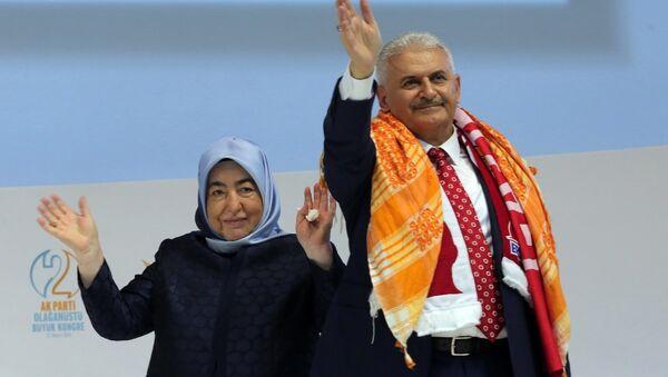 Binali Yıldırım - Semiha Yıldırım  - Sputnik Türkiye