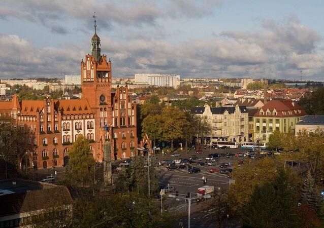 Redzikovo'da inşa edilecek füze kalkanının sadece 4 kilometre uzağında yer alan Slupska kenti.