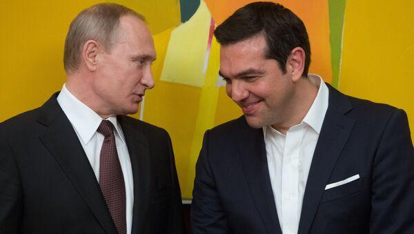 Rusya Devlet Başkanı Vladimir Putin- Yunanistan Başbakanı Aleksis Çipras - Sputnik Türkiye