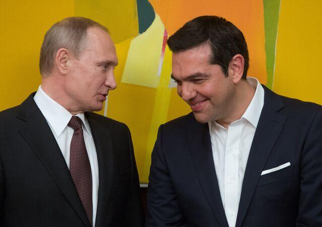 Rusya Devlet Başkanı Vladimir Putin- Yunanistan Başbakanı Aleksis Çipras