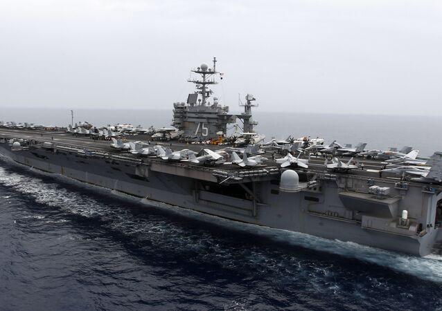 ABD'nin Akdeniz'deki savaş gemisi USS Harry S Truman.