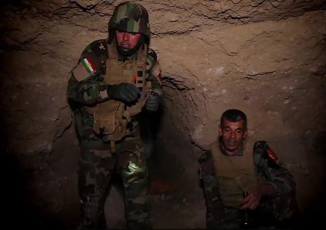 Peşmerge güçleri, IŞİD'in sakladığı bombaları imha etti