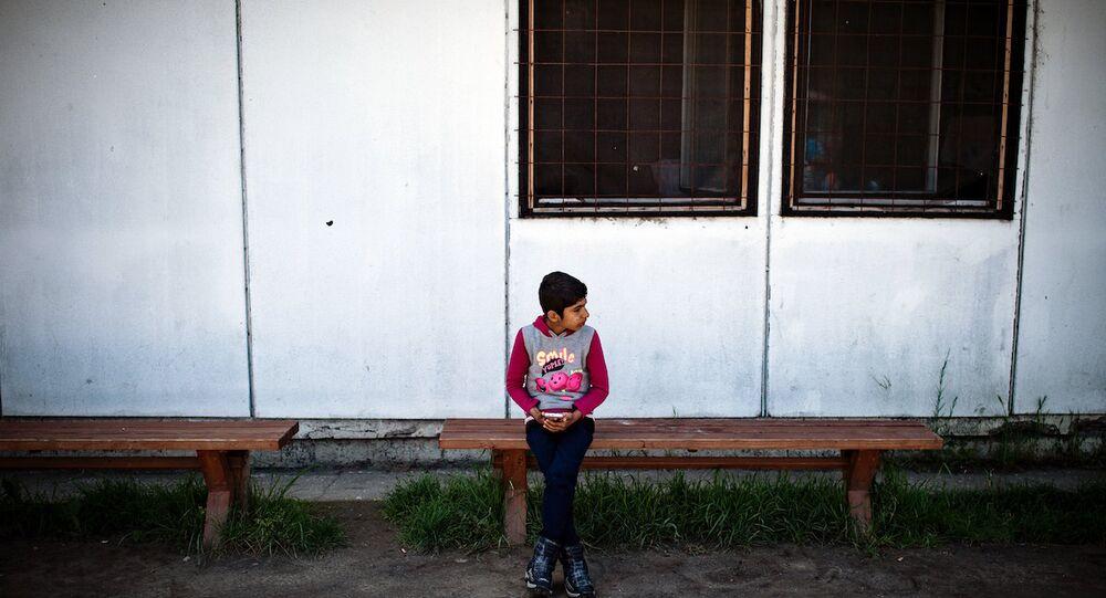 Belgrad yakınlarında bir sığınmacı kampı.
