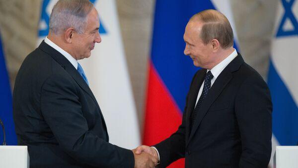 Rusya Devlet Başkanı Vladimir Putin- İsrail Başbakanı Benyamin Netanyahu - Sputnik Türkiye