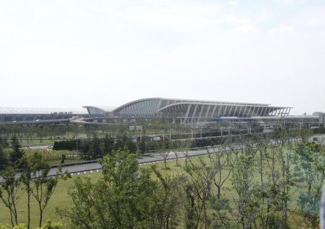 Terminal building at Shanghai Pudong International Airport