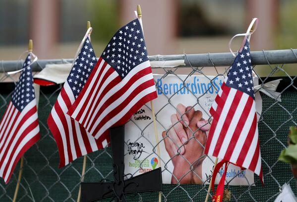 Kaliforniya eyaletine bağlı San Bernardio kentinde 2 Aralık 2015 tarihinde Syed Rizwan Farook ve Tashfeen Malik çiftinin, engellilere hizmet veren bir merkeze gerçekleştirdikleri saldırıda 14 kişi öldü, 22 kişi de yaralandı. - Sputnik Türkiye