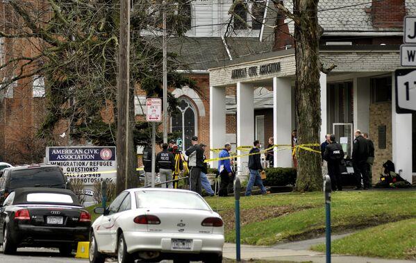 Binghamton kentinde Vietnam asıllı Jiverly Wong'un 3 Nisan 2009 tarihinde bir göçmen merkezinde gerçekleştirdiği saldırı sonucunda 13 kişi hayatını kaybetti, dört kişi de yaralandı. Wong olayın ardından intihar etti. - Sputnik Türkiye