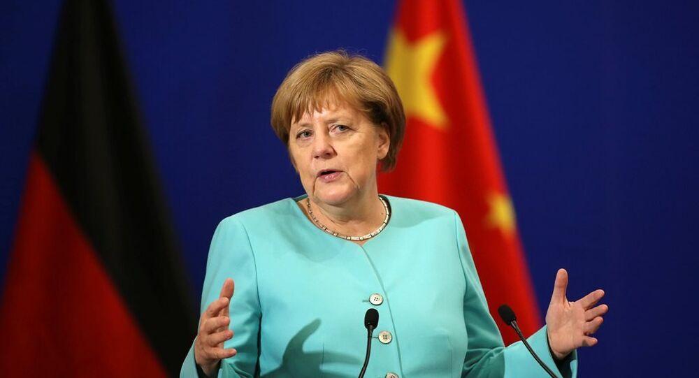 Almanya Başbakanı Angela Merkel Çin'de