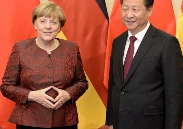 Almanya Başbakanı Angela Merkel- Çin lideri Şi Cinping