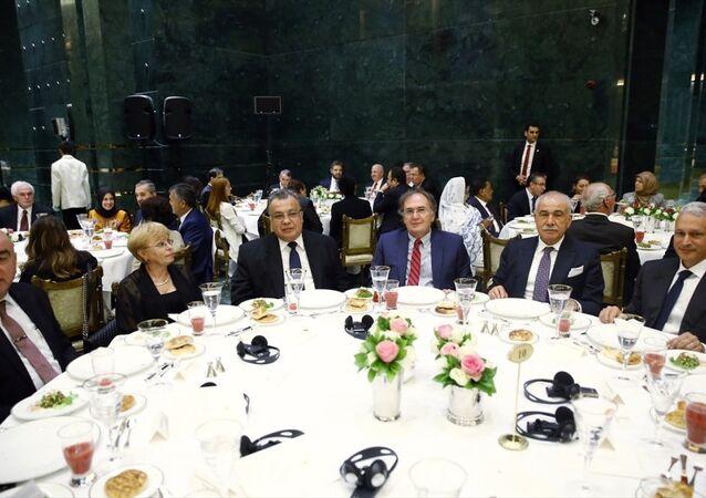 Rusya'nın Ankara Büyükelçisi Andrey Karlov, Cumhurbaşkanı Recep Tayyip Erdoğan'ın iftar davetine katıldı.