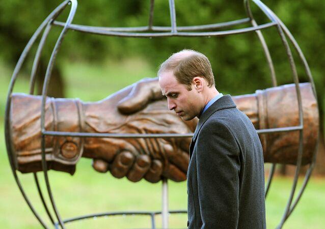 Prince William at 'Football Remembers' memorial