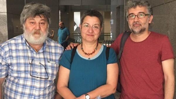 Şebnem Korur Fincancı, Ahmet Nesin ve Erol Önderoğlu - Sputnik Türkiye
