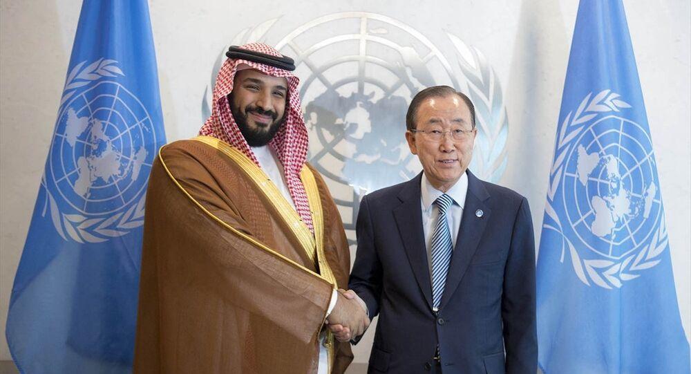 BM Genel Sekreteri Ban Ki-mun, Suudi Arabistan Savunma Bakanı ve ikinci veliaht prensi Muhammed bin Selman ile görüştü.