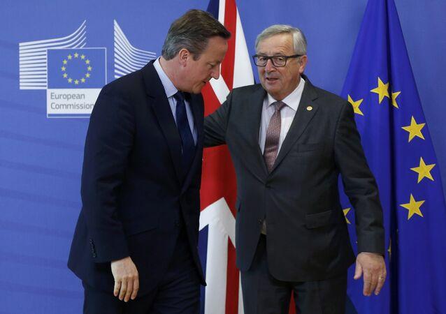 İngiltere Başbakanı David Cameron - AB Komisyonu Başkanı Jean Claude Juncker