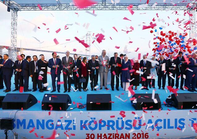 Osmangazi Köprüsü açılış töreni.