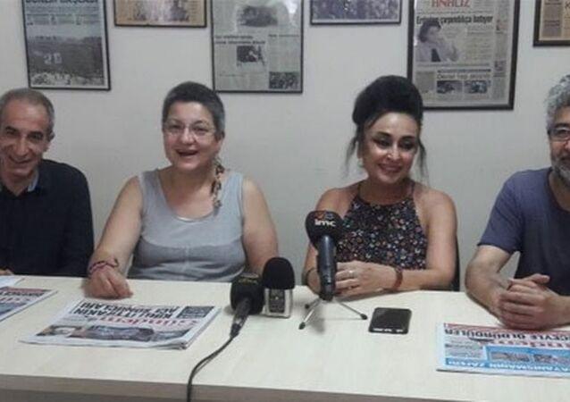 Türkiye İnsan Hakları Vakfı (TİHV) Başkanı Şebnem Korur Fincancı ve Sınır Tanımayan Gazeteciler (RSF) Türkiye Temsilcisi Erol Önderoğlu, tahliyelerinin ardından Özgür Gündem gazetesinde bir araya gelerek bir basın açıklaması yaptı.